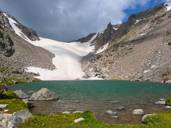 Andrews Tarn, Andrews Glacier and the Continental Divide