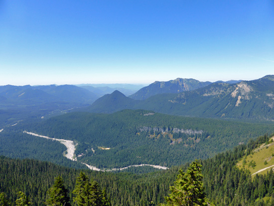 View of the Nisqually River Valley from Eagle Peak