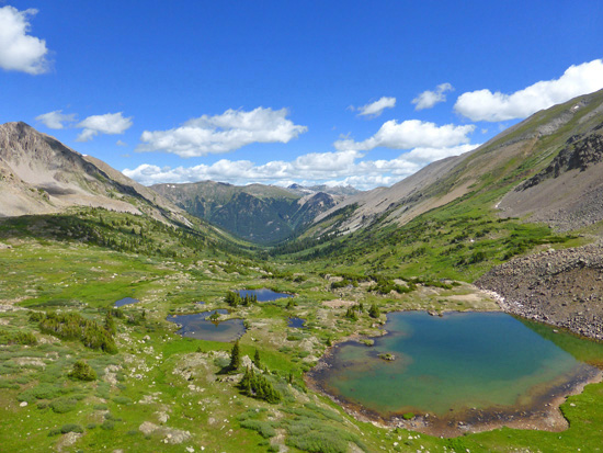 Alpine tarns along the Tabor Creek Trail